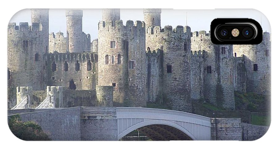 Castles IPhone X Case featuring the photograph Conwy Castle by Christopher Rowlands