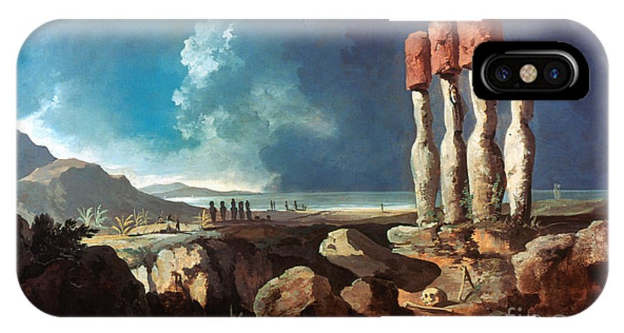 1774 IPhone X Case featuring the photograph Cook: Easter Island, 1774 by Granger