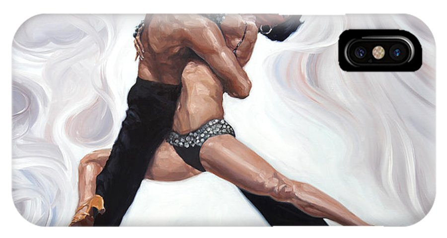 Dance IPhone X Case featuring the painting Cool Heat by David Riley