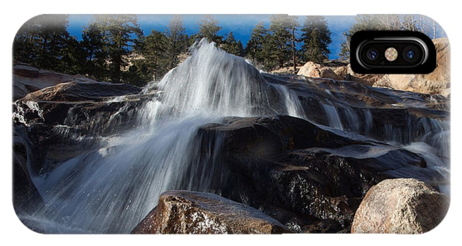 Rocky Mountain National Park IPhone X Case featuring the photograph Cool Splash by Rick Machle