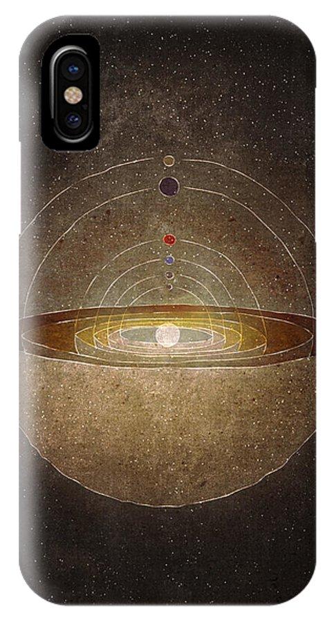 Copernicus IPhone X / XS Case featuring the digital art Copernicus by Joanna Kleczar