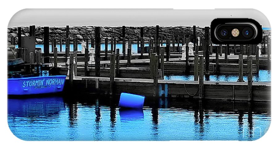 Digital Enhanced Color Photo IPhone X Case featuring the digital art Copper Harbor by Tim Richards