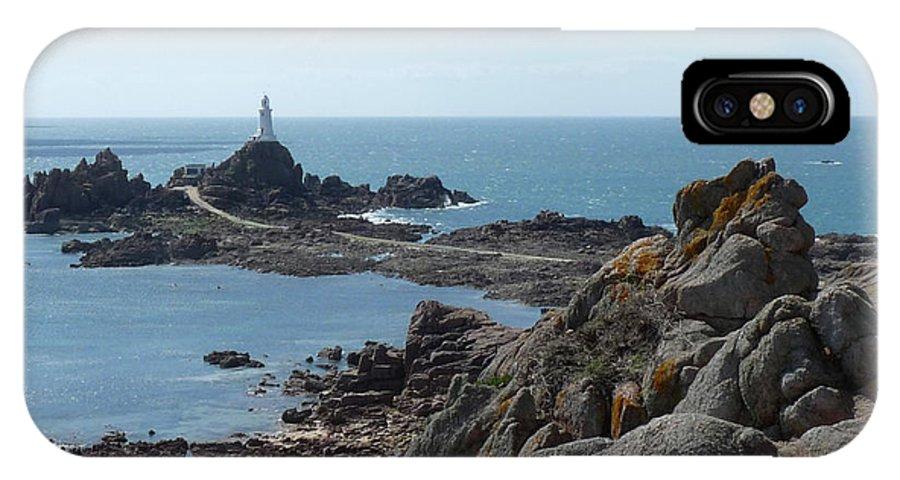 Corbiere IPhone X Case featuring the photograph Corbiere Lighthouse by Deborah Smolinske