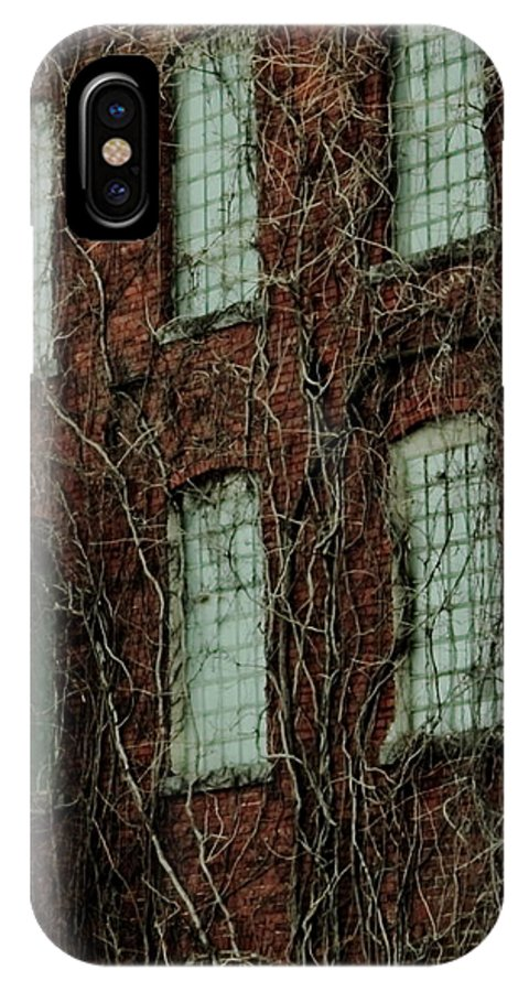 Abandoned Building IPhone X Case featuring the photograph Cork Factory by Jeff Heimlich