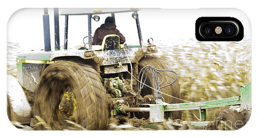Johndeere IPhone X Case featuring the photograph Corn Harvest by Roger Bailey