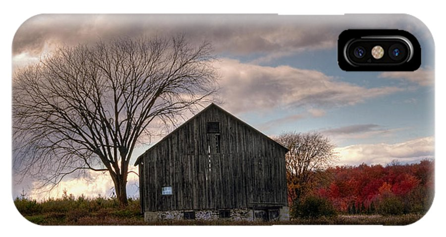 Farm IPhone X Case featuring the photograph Corn Rows by Terry Doyle