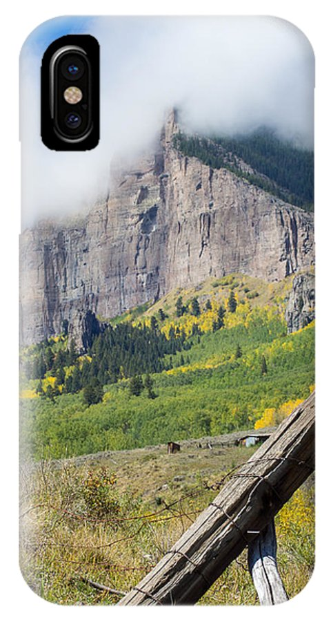 Mountain IPhone X Case featuring the photograph Corner Post by Nathan Gingles