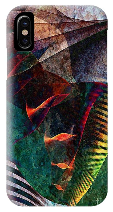 Cornucopia IPhone X Case featuring the digital art Cornucopia by Klara Acel