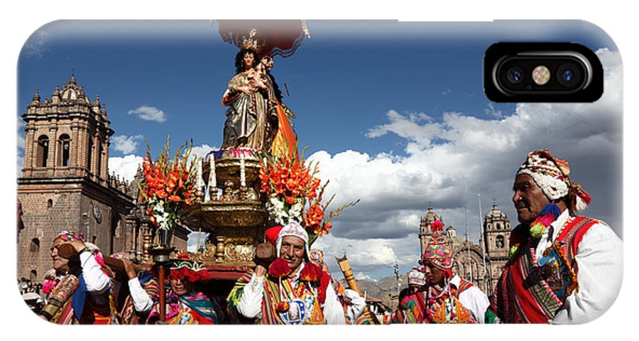Festival IPhone X Case featuring the photograph Corpus Cristi In Cusco by James Brunker