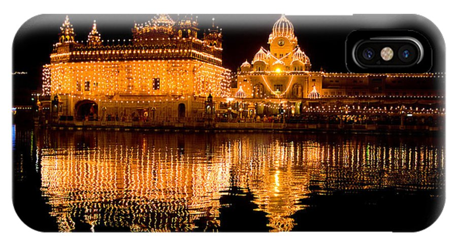 Golden Temple IPhone X Case featuring the photograph Corse Reflection by Devinder Sangha