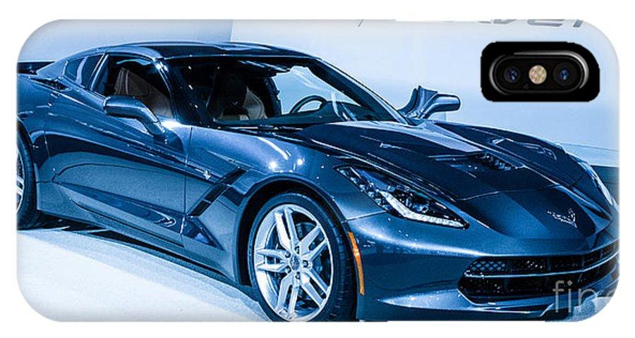 Corvette IPhone X Case featuring the photograph Corvette Stingray by Ronald Grogan