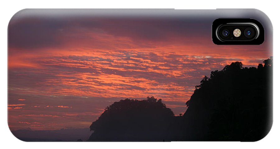 Sunset IPhone X Case featuring the photograph Costa Rica Sunset by Michelle Wiarda-Constantine