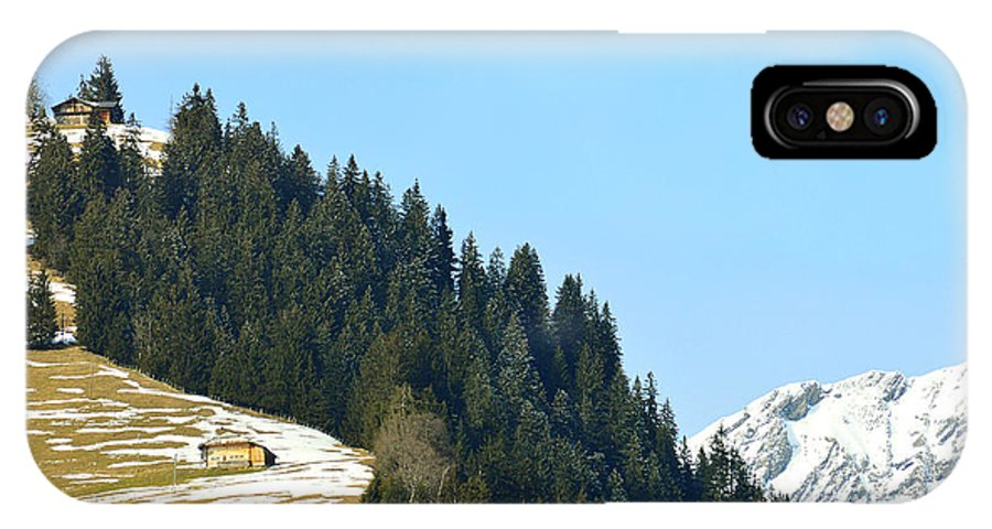 Alps IPhone X Case featuring the photograph Cottage In Alps by Felicia Tica