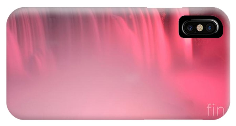 Pink IPhone X Case featuring the photograph Cotton Candy by Kathleen Struckle