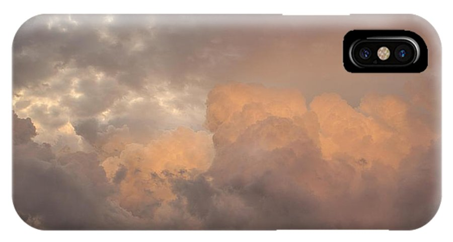 Clouds IPhone X Case featuring the photograph Cotton Sky by Lezlie Faunce