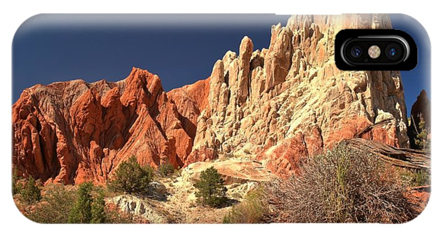 Cottonwood Road IPhone X Case featuring the photograph Cottonwood Pyramids by Adam Jewell