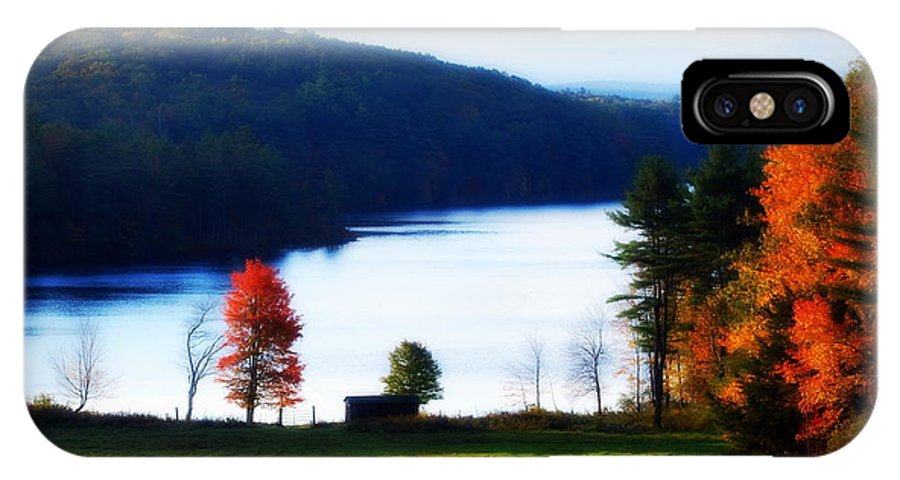 Autumn IPhone X Case featuring the photograph Country Autumn by Tracy Vartanian