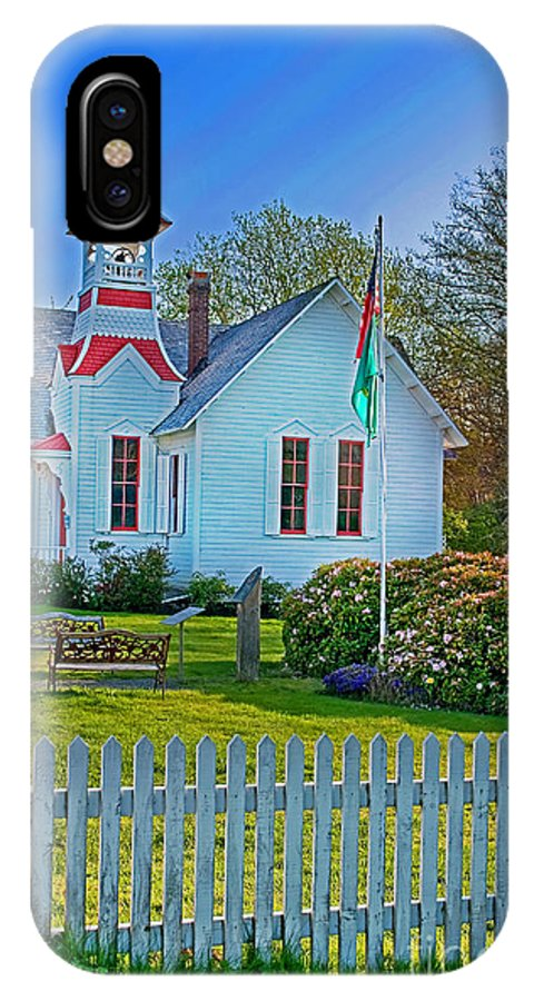 America IPhone X Case featuring the photograph Country Church In Oysterville Wa by Valerie Garner