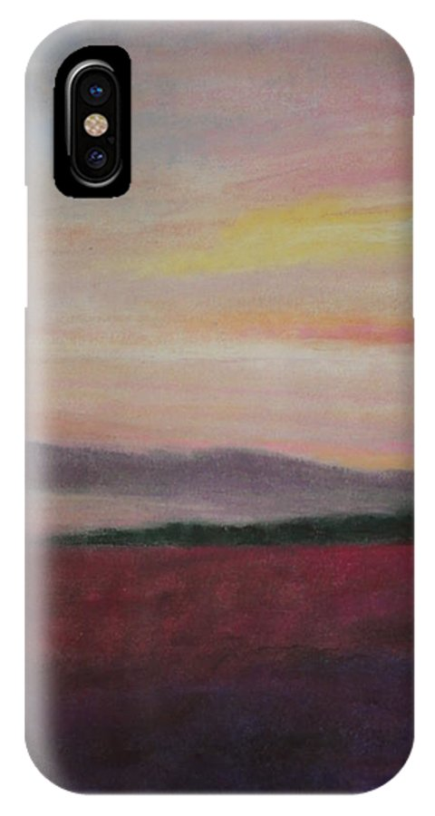 Dawn IPhone X Case featuring the pastel Country Dawn by Renee Poblacion