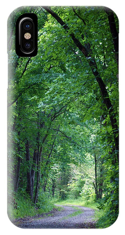 Tree IPhone X Case featuring the photograph Country Lane by Cricket Hackmann