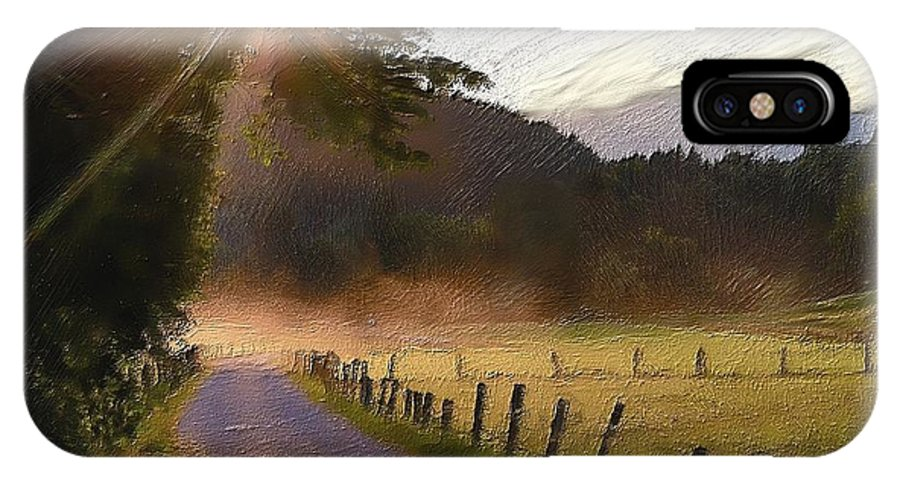 Farm IPhone X Case featuring the painting Country Road by Harry Dusenberg