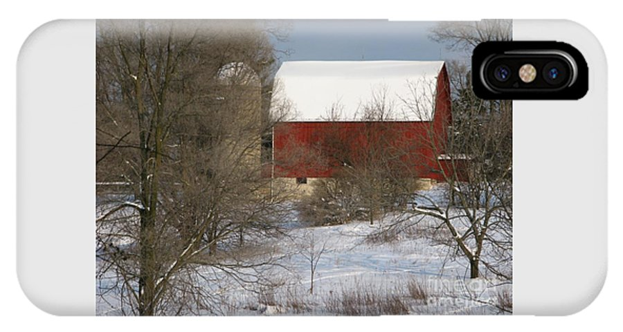 Winter IPhone X Case featuring the photograph Country Winter by Ann Horn