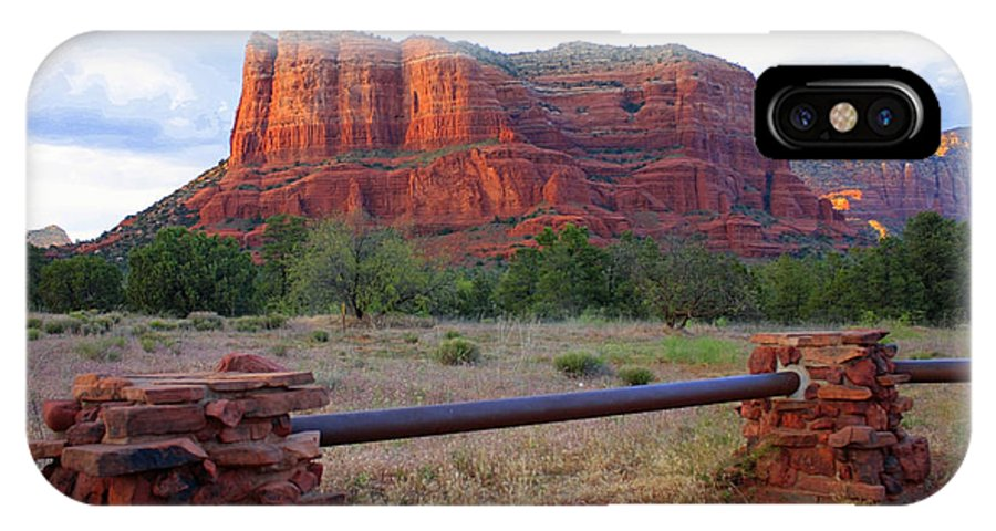 Courthouse Butte IPhone X Case featuring the photograph Courthouse Butte In Sedona by Carol Groenen