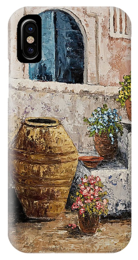 Courtyard IPhone Case featuring the painting Courtyard 2 by Darice Machel McGuire