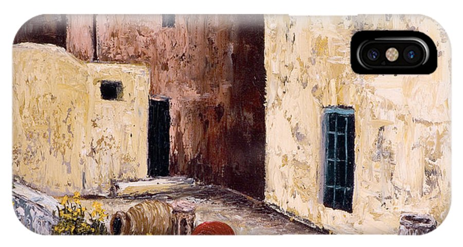 Courtyard IPhone Case featuring the painting Courtyard by Darice Machel McGuire