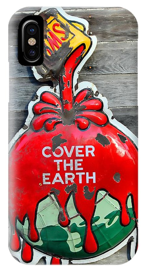 Sherwin Williams IPhone X Case featuring the photograph Cover The Earth by Sylvia Thornton