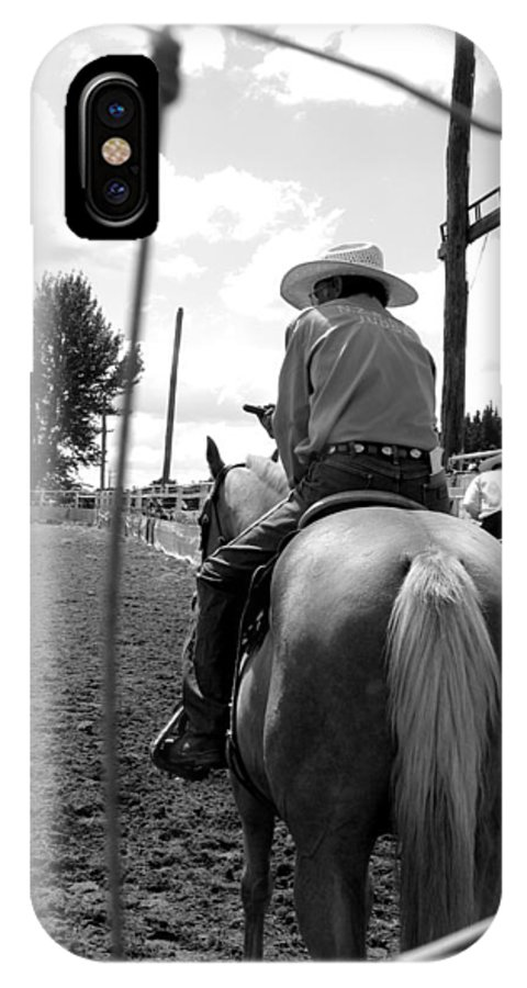 Cowboy IPhone X Case featuring the photograph Cowboy 1 by Amanda Stadther