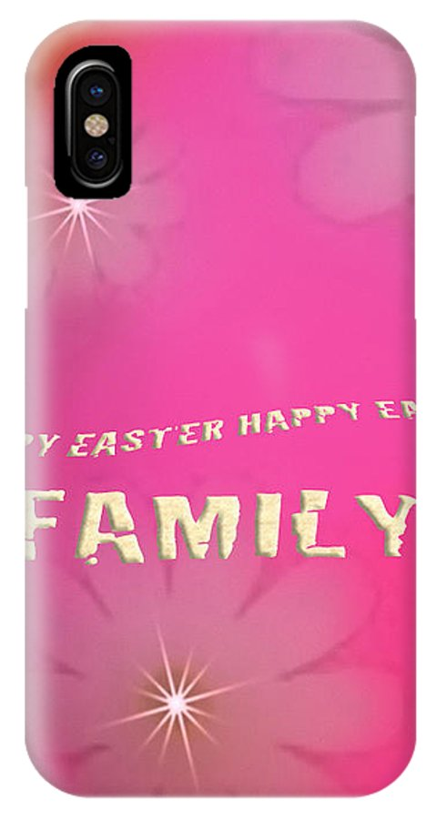 Cracked Happy Easter IPhone X Case featuring the photograph Cracked Happy Easter by Debra   Vatalaro
