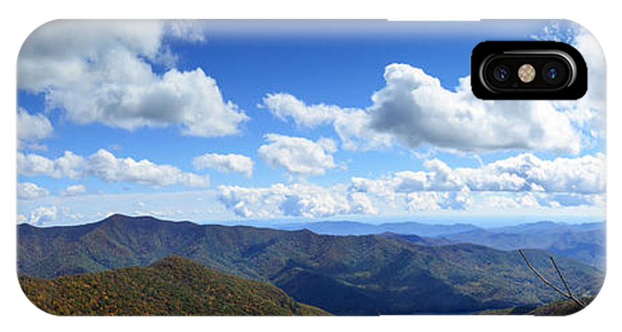 Craggy Gardens IPhone X / XS Case featuring the photograph Craggy Gardens Draped In Clouds by Steve Samples