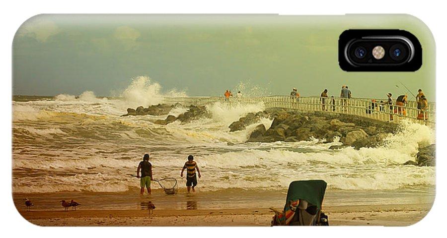 Beach IPhone X Case featuring the photograph Crash Of The Waves by Deborah Benoit