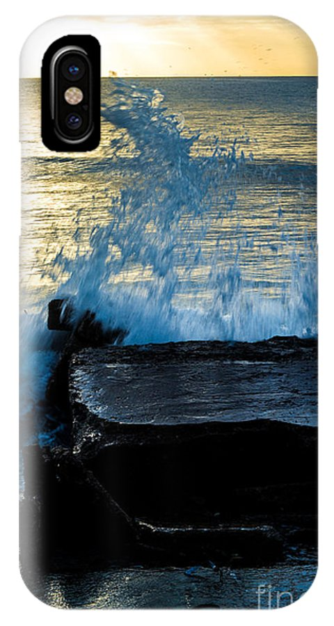 Bvi IPhone X Case featuring the photograph Crashing Rays And Waves by Rene Triay Photography