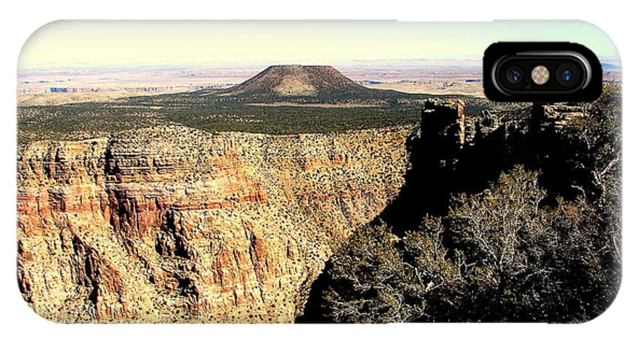 Crater IPhone X Case featuring the photograph Crater At Grand Canyon by John Potts