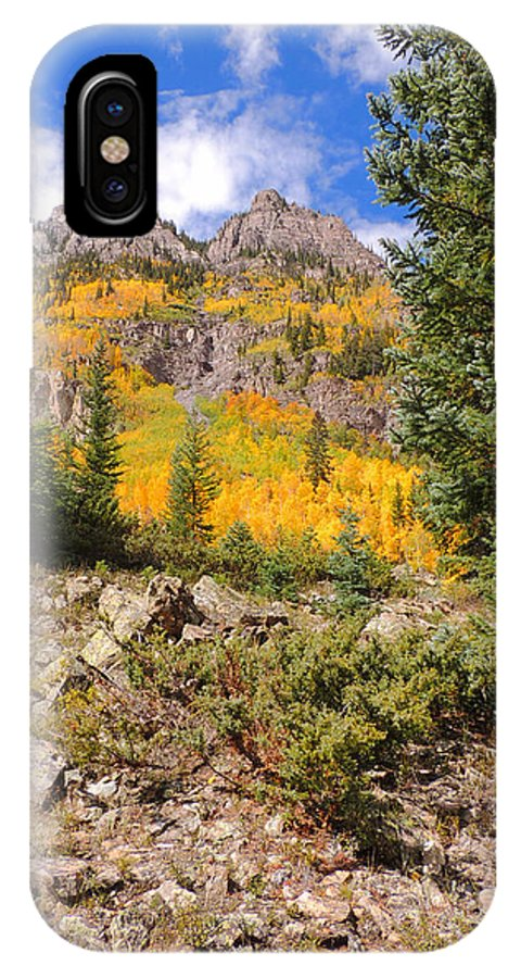 Aspen IPhone X Case featuring the photograph Crater Lake Trail by Steve Anderson