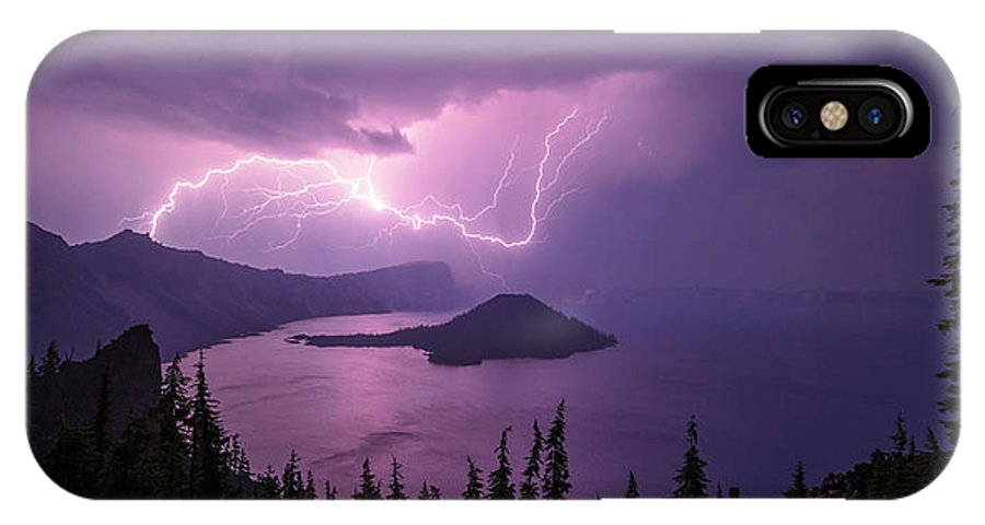 Crater Storm IPhone X Case featuring the photograph Crater Storm by Chad Dutson