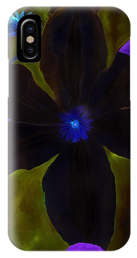 Clematis IPhone X Case featuring the painting Crazy Exposure Clematis by Ann Michelle Swadener