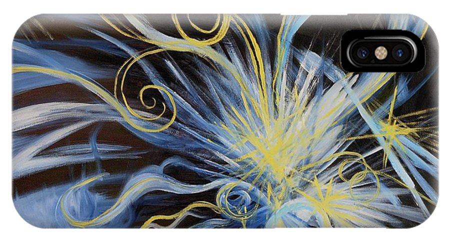 Creation IPhone X Case featuring the painting Creation First Day Light by Caroline Street