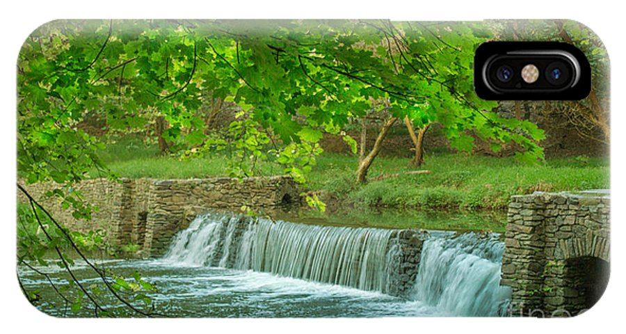 Valley Forge IPhone X Case featuring the photograph creek at Valley Forge by Rima Biswas