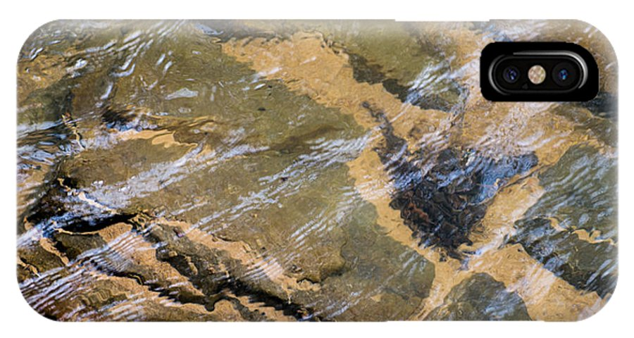 Creek IPhone X Case featuring the photograph Creek Reflections by John Carroll