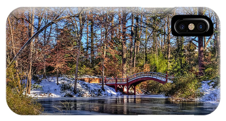 Crim Dell IPhone X Case featuring the photograph Crim Dell In Winter William And Mary by Jerry Gammon