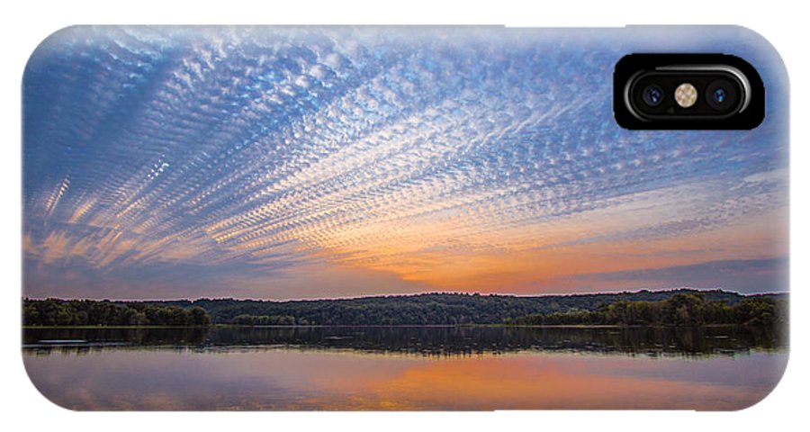 Timestack IPhone X Case featuring the photograph Crochet The Sky by Adam Mateo Fierro