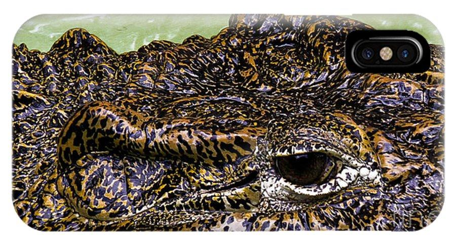 Crocodile IPhone X Case featuring the photograph Crocodile Eye by Joel De la torre
