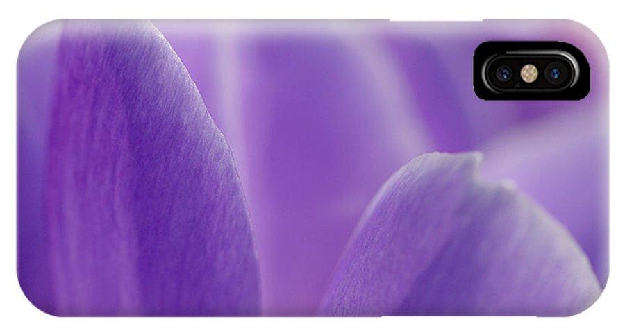 Crocus IPhone X Case featuring the photograph Crocus Edge by Liz Mackney