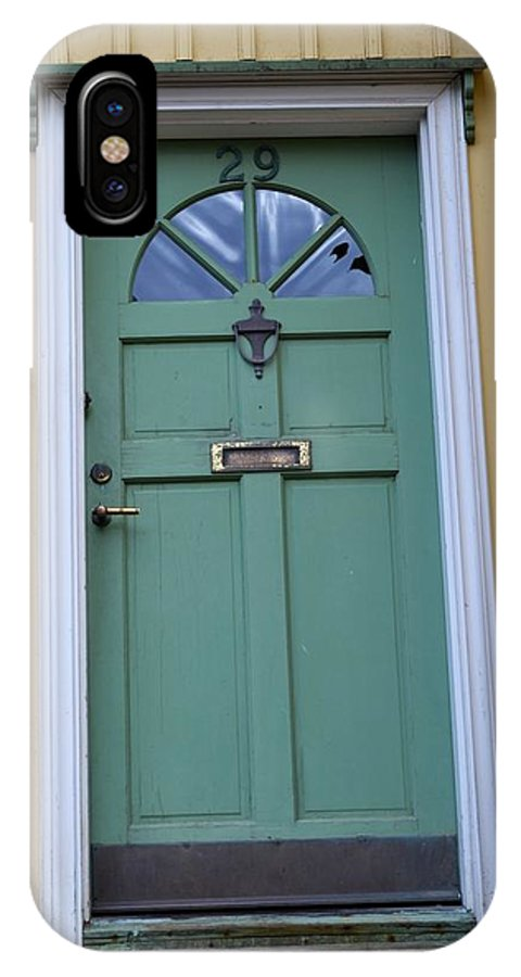 Iceland IPhone X Case featuring the photograph Crooked Green Door by Paula Deutz