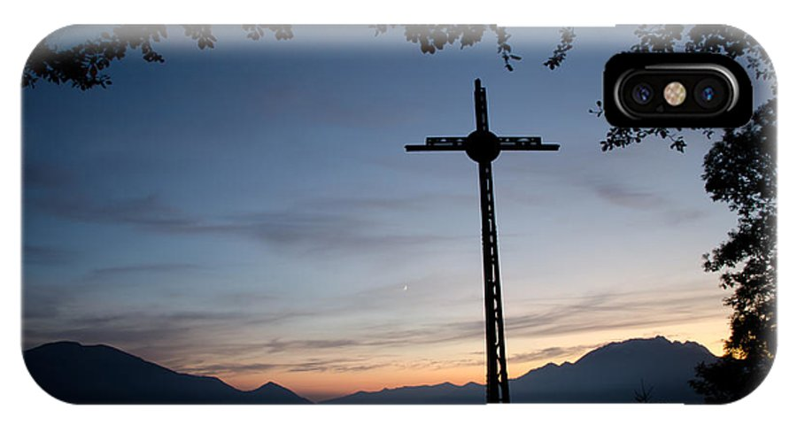Cross IPhone X Case featuring the photograph Cross On The Mountain by Mats Silvan