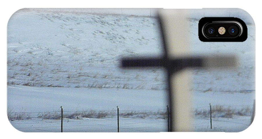 IPhone X Case featuring the photograph Cross by April Helwig