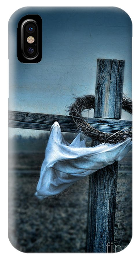 Old IPhone X Case featuring the photograph Cross In A Field by Jill Battaglia